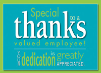 Employee Appreciation (25 cards & envelopes) Custom Imprint Business Boxed Thank You Cards