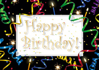 Streaming Birthday Wishes (25 cards & envelopes) Custom Imprint Boxed Birthday Cards