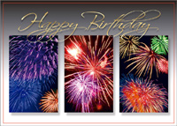 Explosive Wishes (25 cards & envelopes) Custom Imprint Boxed Birthday Cards
