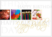 Happy Birthday Wishes (25 cards & envelopes) Custom Imprint Boxed Birthday Cards