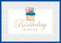 Loaded with Candles (25 cards & envelopes) Custom Imprint Boxed Birthday Cards