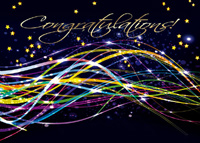 Fiber Optic Congrats (25 cards & envelopes) Custom Imprint Boxed Congratulations Cards