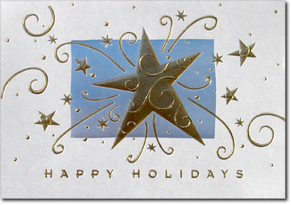 Explosive Star (25 cards & envelopes) - Boxed Holiday Cards