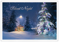 Silent Night (25 cards & envelopes) Personalized Religious Boxed Christmas Cards