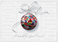 Worldy Flags of Wishes (25 cards & envelopes) - Boxed Holiday Cards