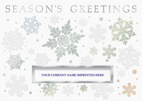 Flurried Greetings (25 cards & envelopes) Personalized Recycled Business Boxed Christmas Cards