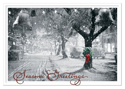 It's a Wonderful Season! (25 cards & envelopes) Personalized Business Boxed Christmas Cards