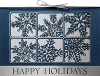 Laser Window Panes (25 cards & envelopes) - Boxed Holiday Cards