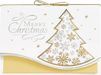 Merry Christmas Tree (25 cards & envelopes) - Boxed Christmas Cards