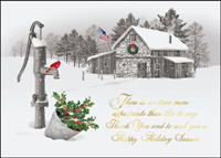 Stone Cabin (25 cards & envelopes) - Boxed Holiday Cards