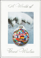 International Flags Ornament (25 cards & envelopes) - Boxed Holiday Cards