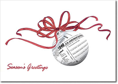 Accountant Ornament (25 cards & envelopes) - Boxed Holiday Cards