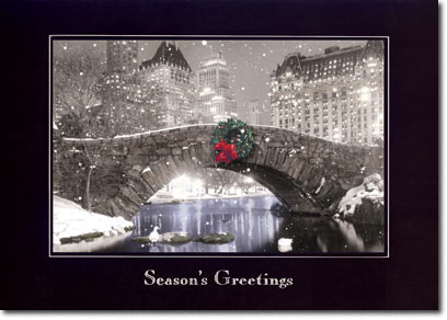 Snowfall at Night (25 cards & envelopes) Personalized New York City Boxed Holiday Cards