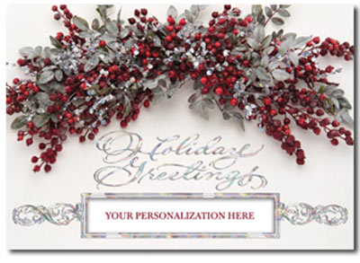 Holiday Spray Box Of 25 Personalized Business Christmas Cards By