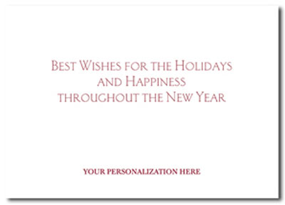 Holiday Spray (25 cards & envelopes) Personalized Business Boxed Christmas Cards