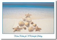 Nautical Tree (25 cards & envelopes) Personalized Business Boxed Holiday Cards