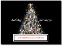 Tool Time (25 cards & envelopes) Personalized Contractor or Builder Boxed Holiday Cards