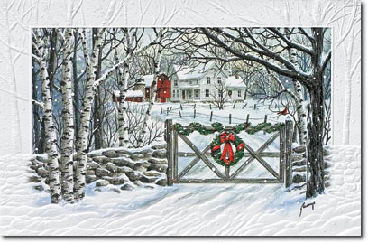 Friendly Farm (25 cards & envelopes) Personalized Boxed Holiday Cards