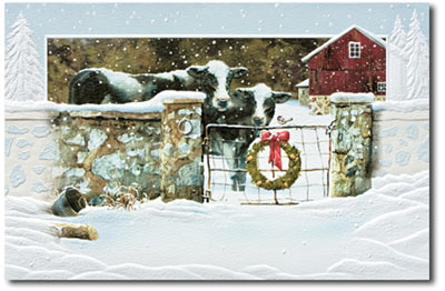Welcoming Committee (25 cards & envelopes) Personalized Recycled Business Boxed Christmas Cards