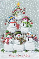 Tree of Snowmen (25 cards & envelopes) - Boxed Christmas Cards
