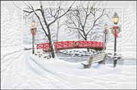 Red Bridge Crossing (25 cards & envelopes) - Boxed Christmas Cards