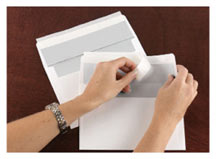 KwikSeal self-sealing envelopes make the mailing of your greeting cards fast and easy.