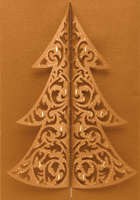 Gatefold Laser Tree (25 cards & envelopes) - Boxed Christmas Cards