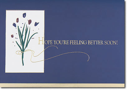 Feel Better Flowers (25 cards & envelopes) Personalized Business Boxed Get Well Cards