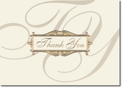 Scripted Thank You (25 cards & envelopes) Personalized Business Boxed Thank You Cards