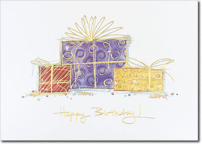 Happy Birthday Presents (25 cards & envelopes) - Boxed Birthday Cards