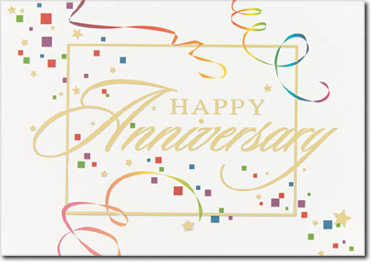 Anniversary Gala (25 cards & envelopes) - Boxed Anniversary Cards