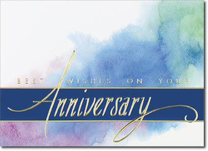 Color Splash Anniversary (25 cards & envelopes) Personalized Business Boxed Anniversary Cards
