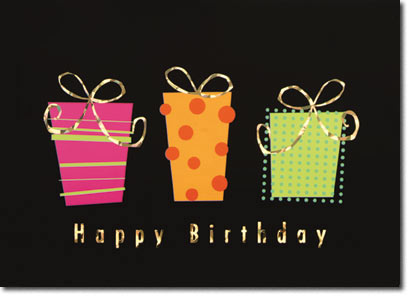 Mod Art Birthday (25 cards & envelopes) - Boxed Birthday Cards