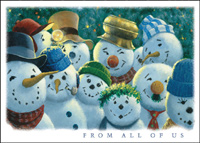 Snowmen Committee (25 cards & envelopes) - Boxed Holiday Cards