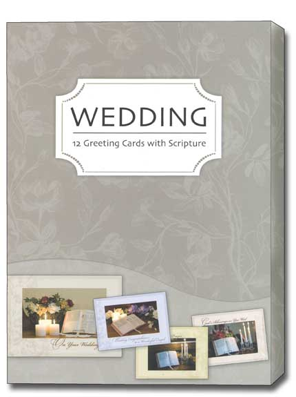 Treasured Moments (12 Wedding Cards with envelopes) Assorted Boxed Scriptured Wedding Cards - FRONT: Various  INSIDE: Various