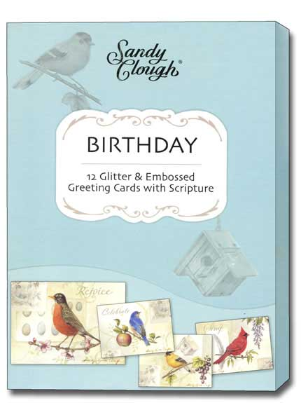 Song Birds (12 Birthday Cards with envelopes) - Boxed Scriptured Birthday Cards - FRONT: Various  INSIDE: Various