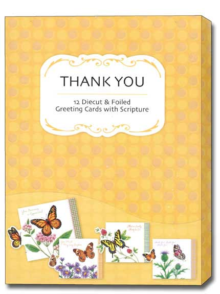 Petite Greetings (12 Thank You Cards with envelopes) - Boxed Scriptured Thank You Cards - FRONT: Various  INSIDE: Various