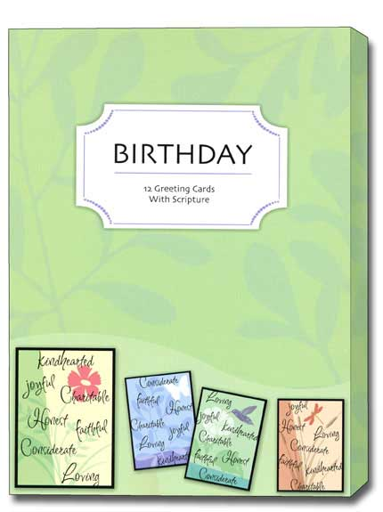 Celebrating You (12 Birthday Cards with envelopes) - Boxed Scriptured Birthday Cards - FRONT: Various  INSIDE: Various