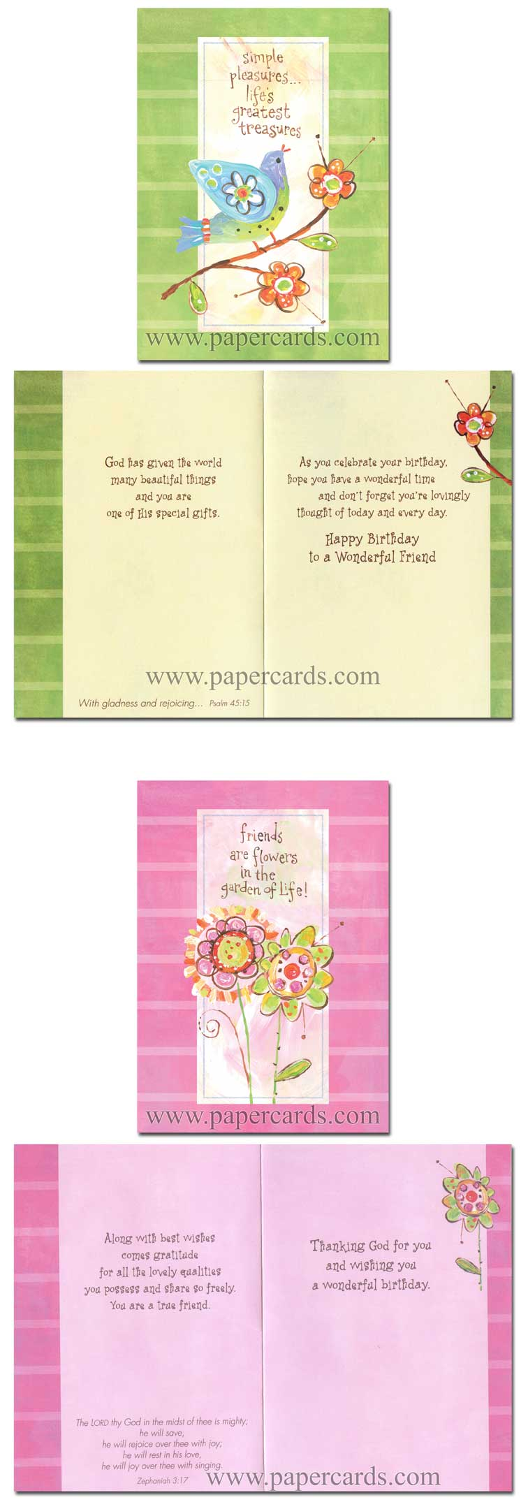 Friendship Garden (12 Birthday Cards with envelopes) - Boxed Scriptured Birthday Cards - FRONT: Various  INSIDE: Various