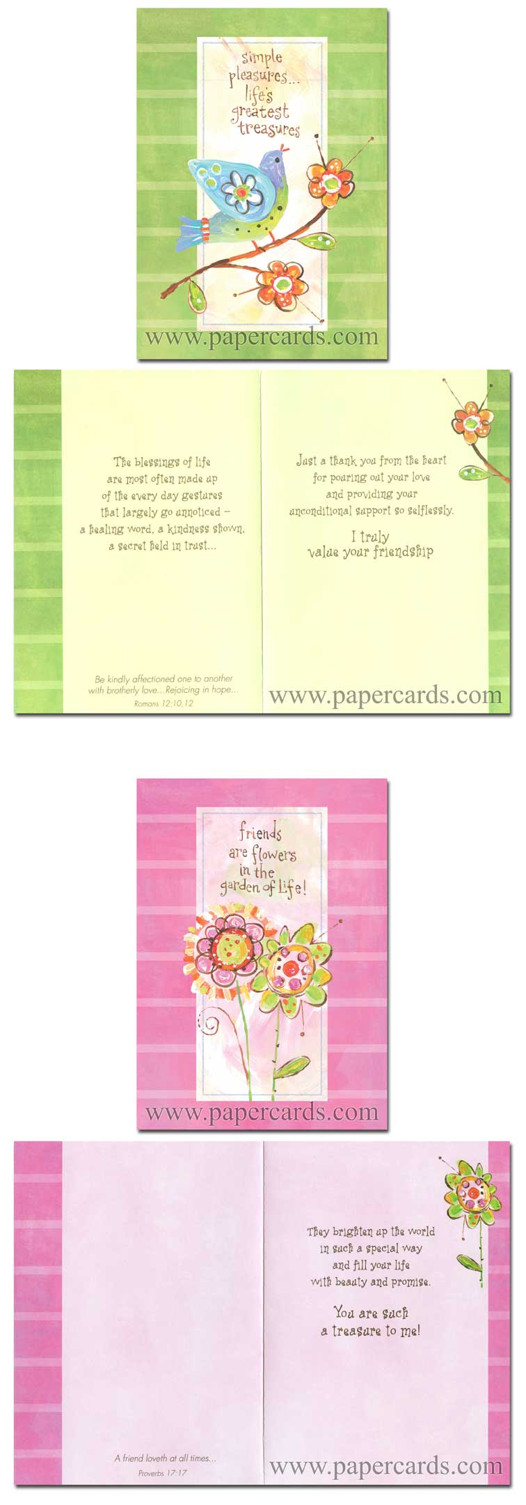Friendship Garden (12 Friendship Cards with envelopes) - Boxed Scriptured Friendship Cards - FRONT: Various  INSIDE: Various