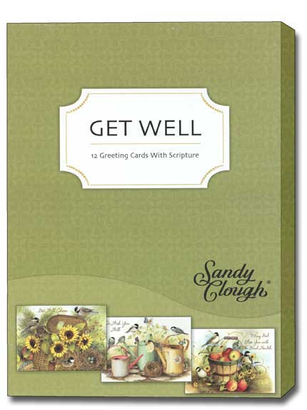 A Garden of Blessings (12 Get Well Cards with envelopes) - Boxed Scriptured Get Well Cards - FRONT: Various  INSIDE: Various