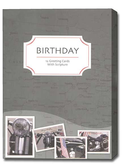 Cruisin' (12 Birthday Cards with envelopes) - Boxed Scriptured Birthday Cards - FRONT: Various  INSIDE: Various