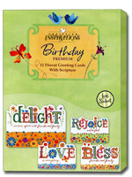 Delight In Life Box Of 12 Christian Birthday Cards