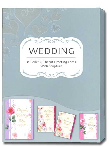 Two Hearts (12 Wedding Cards with envelopes) Assorted Boxed Scriptured Wedding Cards - FRONT: Various  INSIDE: Various
