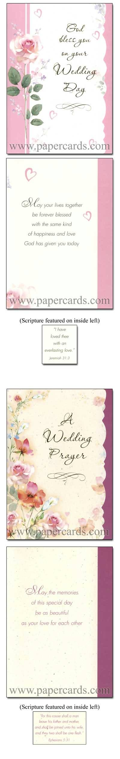 Two Hearts Box Of 12 Assorted Christian Wedding Congratulations