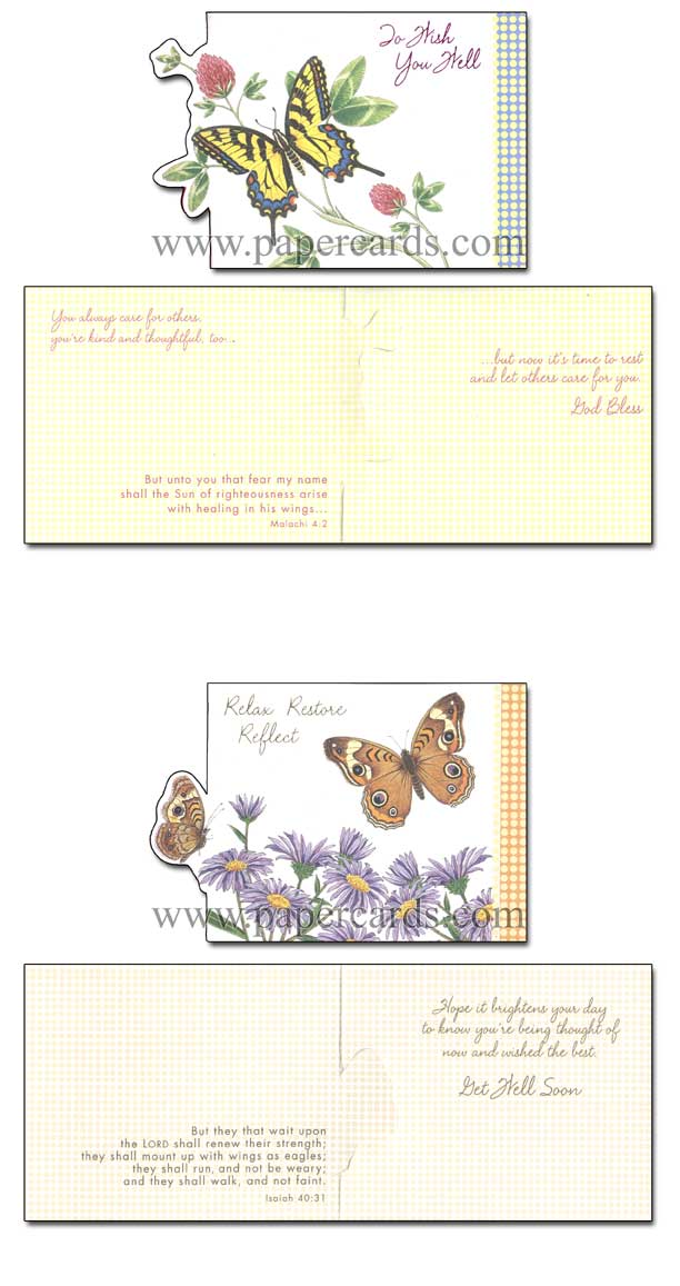 Petite Greetings (12 Get Well Cards with envelopes) - Boxed Scriptured Get Well Cards - FRONT: Various  INSIDE: Various