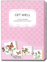 Petite Greetings Box of 12 Christian Get Well Cards