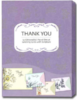 Whimsy Box of 12 Christian Thank You Cards