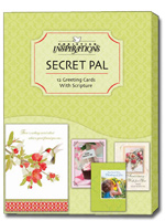 Secret Pal (12 Christian Greeting Cards with envelopes) - Boxed Christian Secret Pal Cards