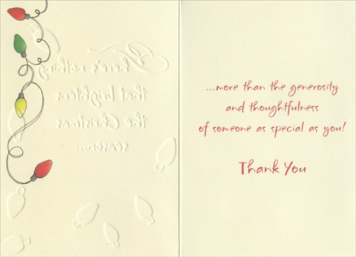 Christmas Lights Thank You Notes  Cards Envelopes Designer